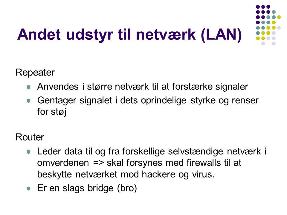 Andet udstyr til netværk (LAN)