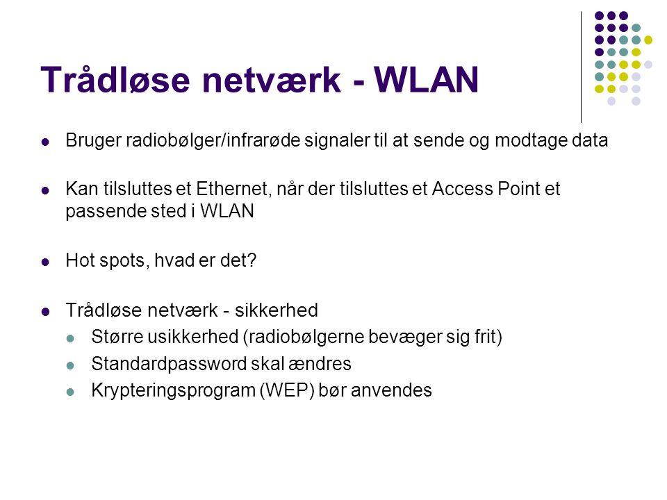 Trådløse netværk - WLAN