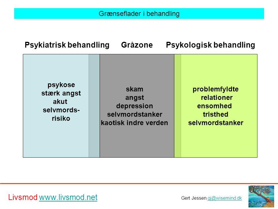 Psykiatrisk behandling Psykologisk behandling