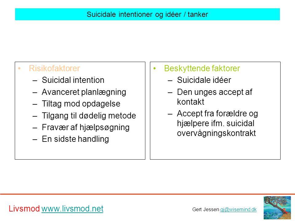 Suicidale intentioner og idéer / tanker