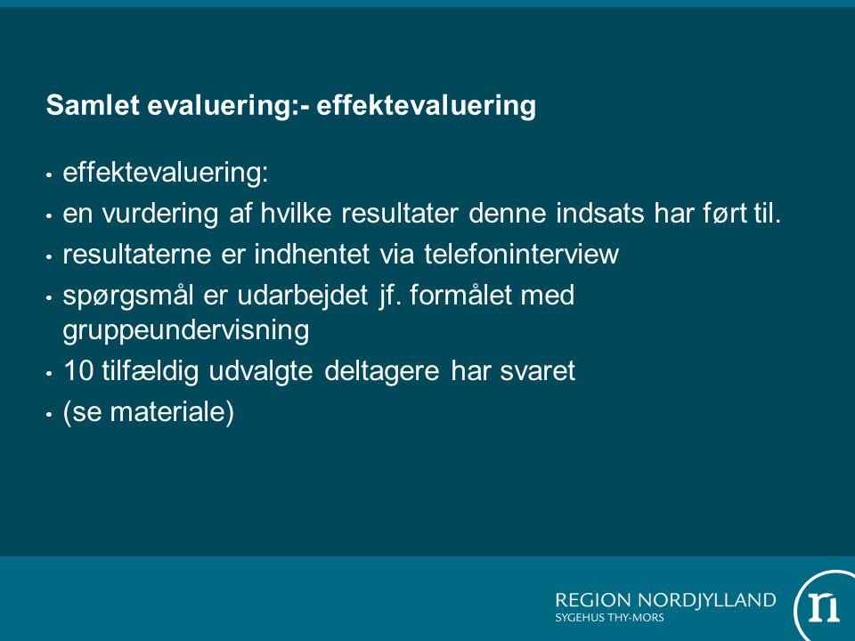 Samlet evaluering:- effektevaluering