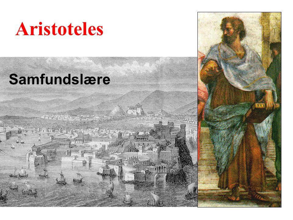 Aristoteles Samfundslære