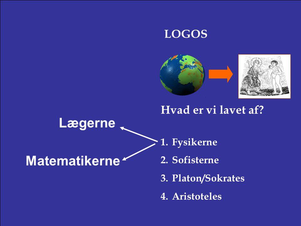 Lægerne Matematikerne LOGOS Hvad er vi lavet af Fysikerne Sofisterne