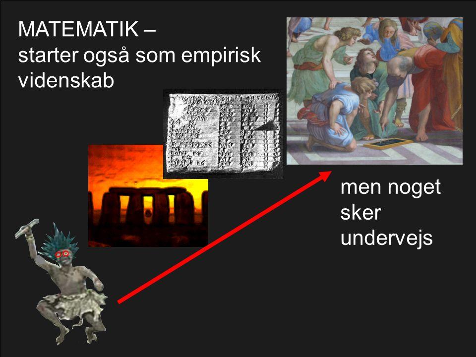 MATEMATIK – starter også som empirisk videnskab