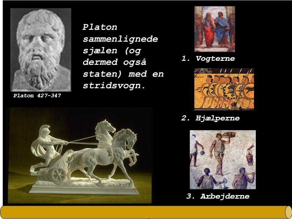 Platon sammenlignede sjælen (og dermed også staten) med en stridsvogn.