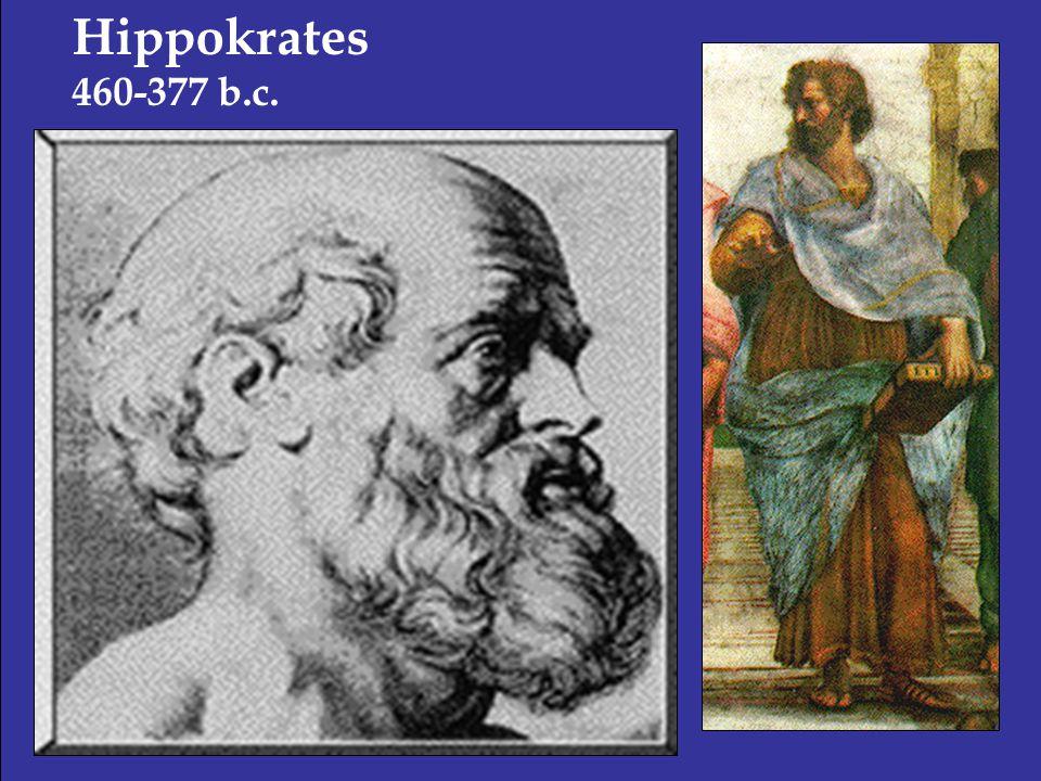 Hippokrates 460-377 b.c.