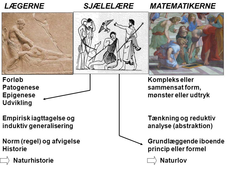 LÆGERNE SJÆLELÆRE MATEMATIKERNE