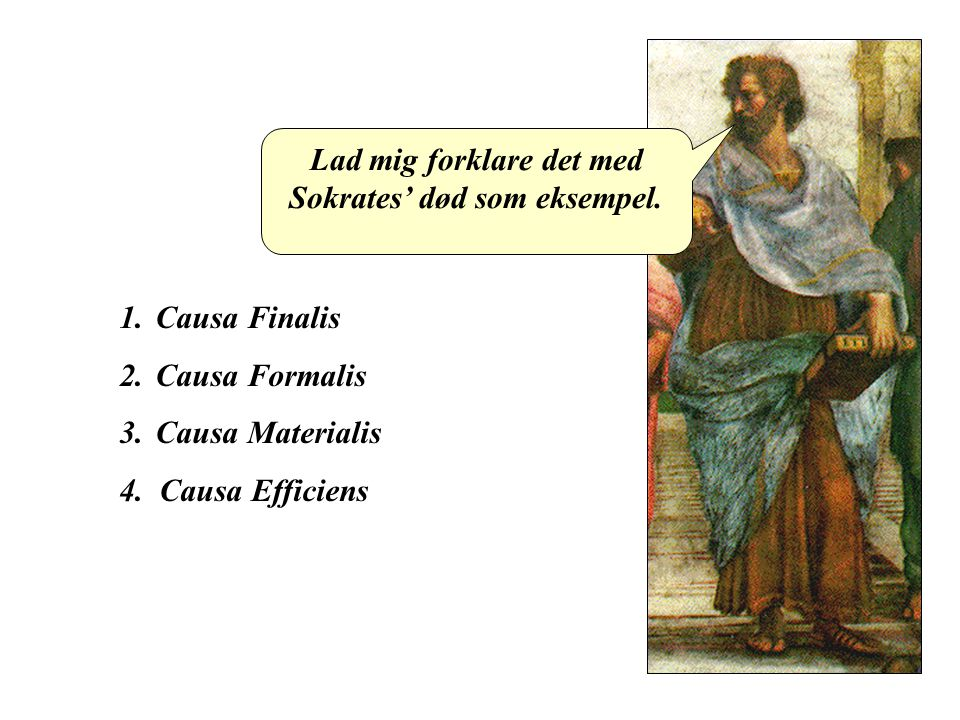 Lad mig forklare det med Sokrates' død som eksempel.