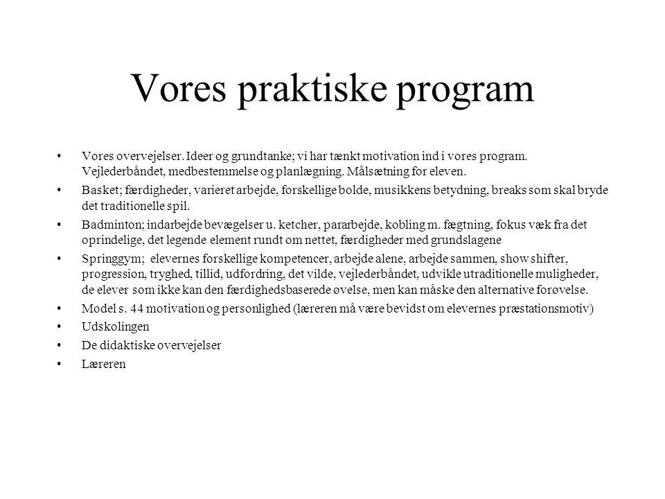 Vores praktiske program