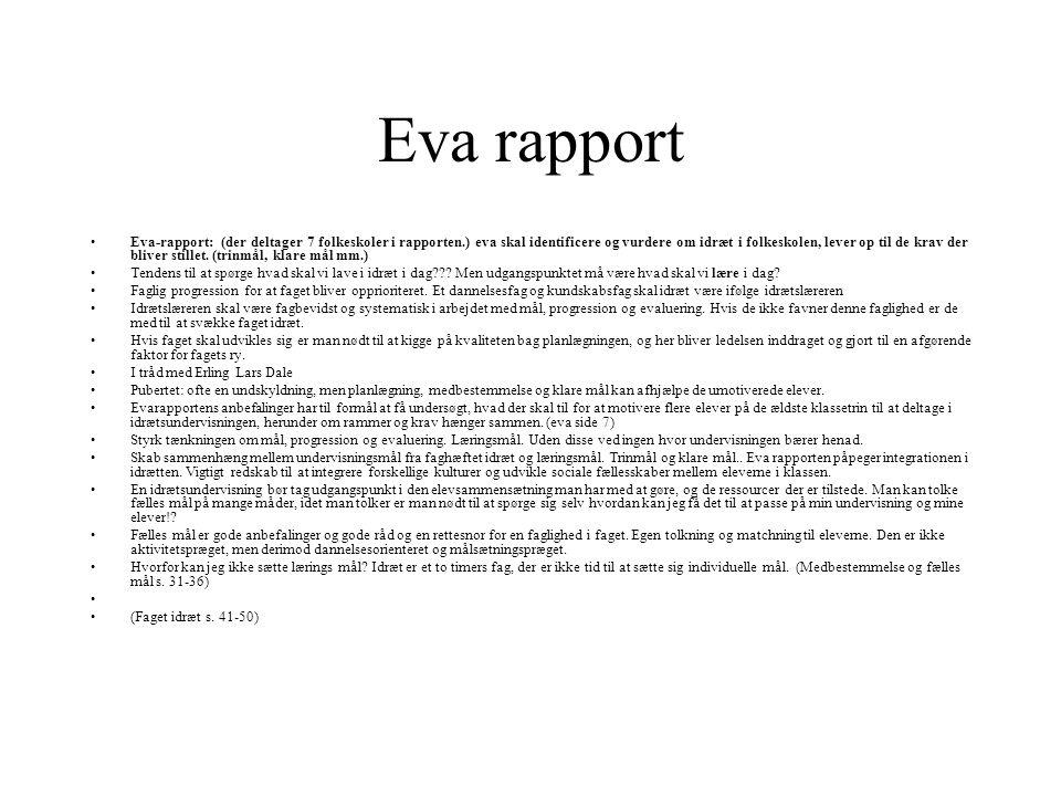 Eva rapport