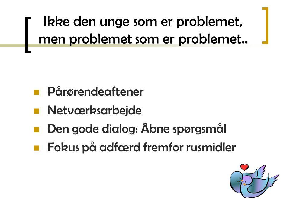 Ikke den unge som er problemet, men problemet som er problemet..