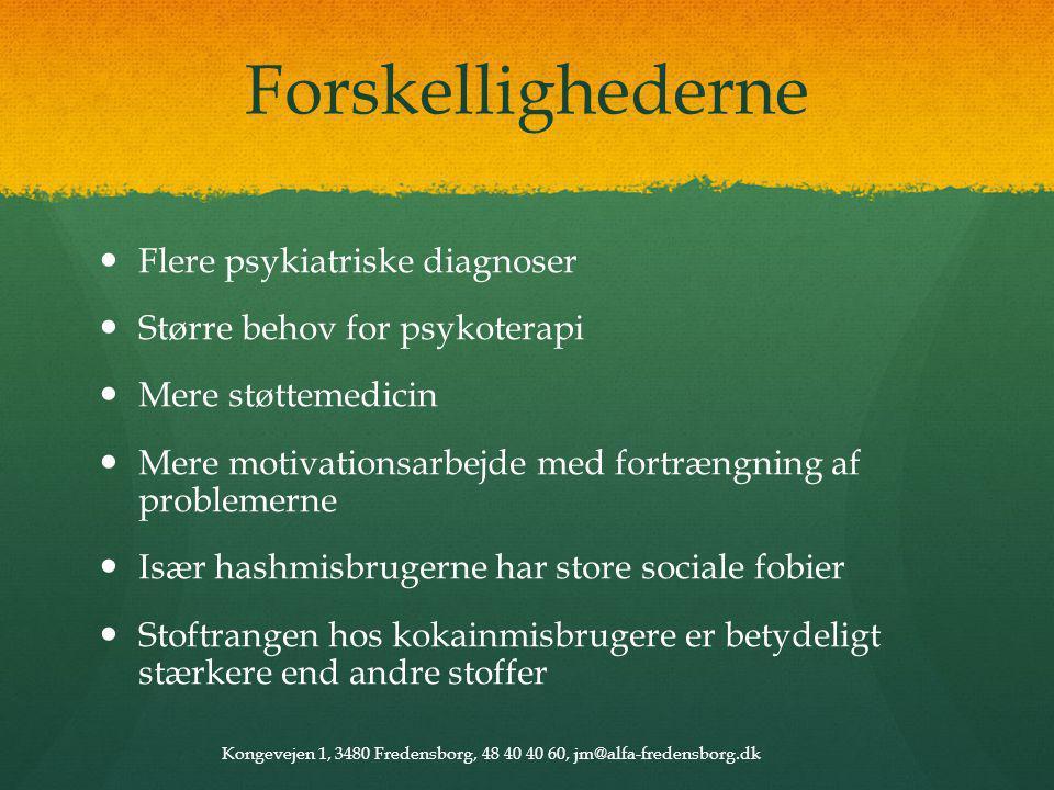 Forskellighederne Flere psykiatriske diagnoser