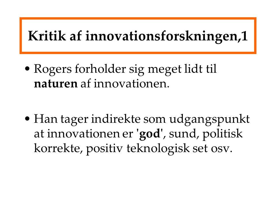 Kritik af innovationsforskningen,1