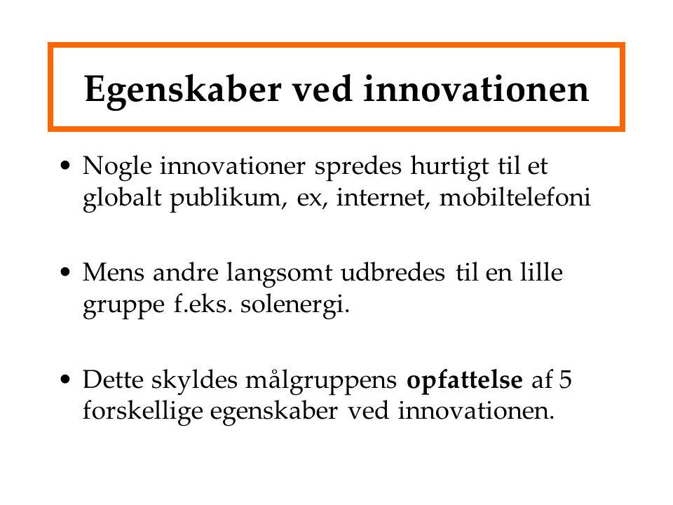 Egenskaber ved innovationen