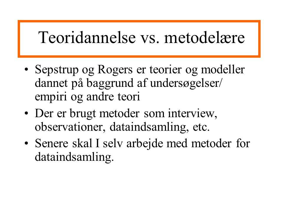 Teoridannelse vs. metodelære