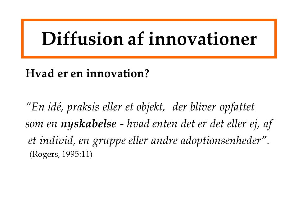 Diffusion af innovationer