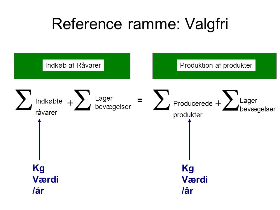 Reference ramme: Valgfri