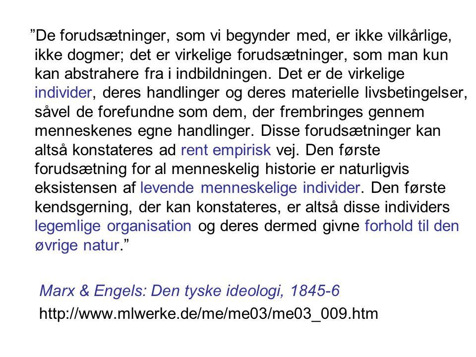 Marx & Engels: Den tyske ideologi, 1845-6