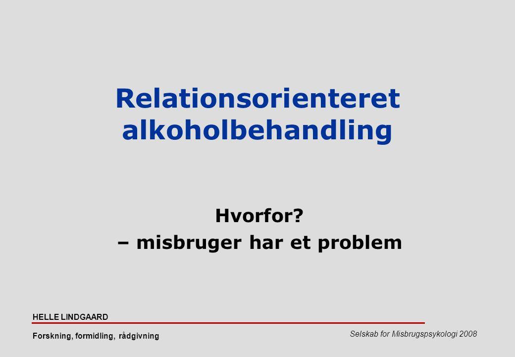 Relationsorienteret alkoholbehandling
