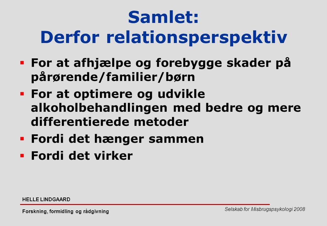 Samlet: Derfor relationsperspektiv