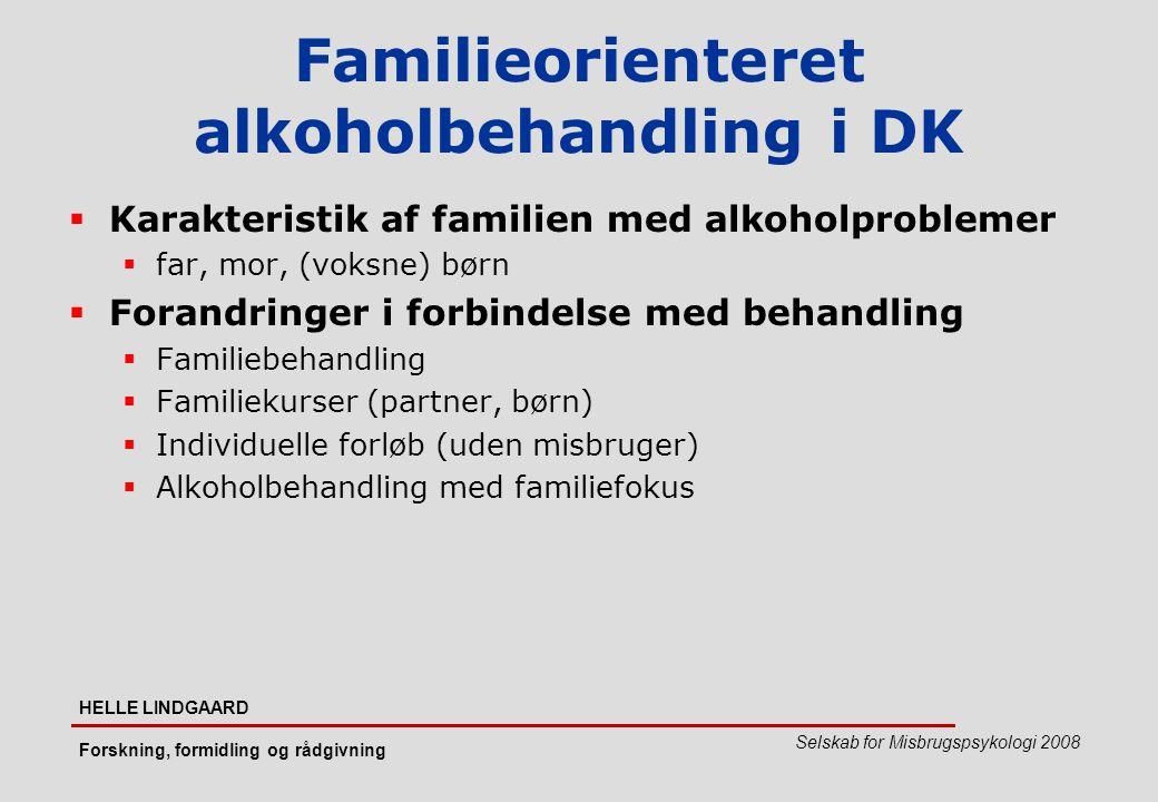 Familieorienteret alkoholbehandling i DK