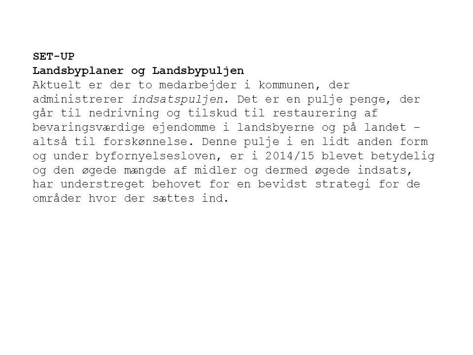 SET-UP Landsbyplaner og Landsbypuljen.