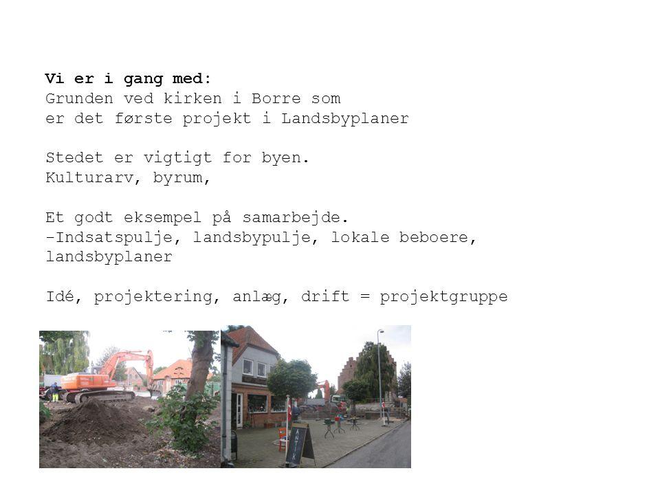Vi er i gang med: Grunden ved kirken i Borre som. er det første projekt i Landsbyplaner. Stedet er vigtigt for byen.