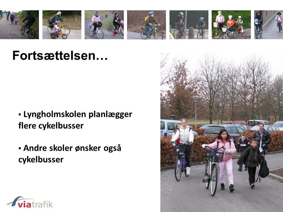 Fortsættelsen… Lyngholmskolen planlægger flere cykelbusser
