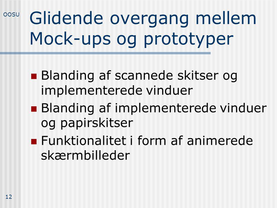 Glidende overgang mellem Mock-ups og prototyper