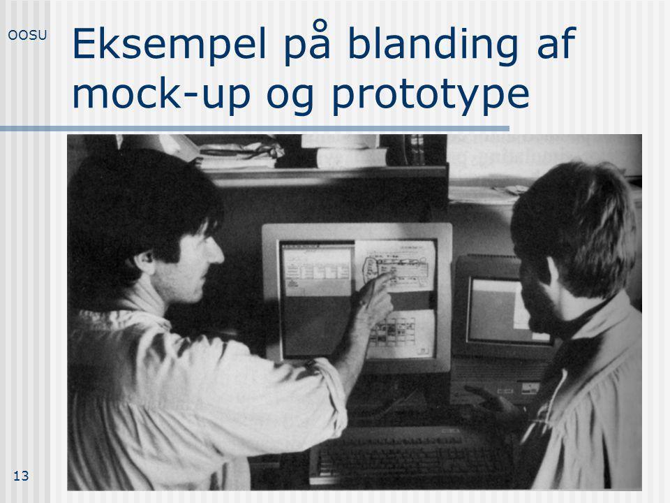 Eksempel på blanding af mock-up og prototype