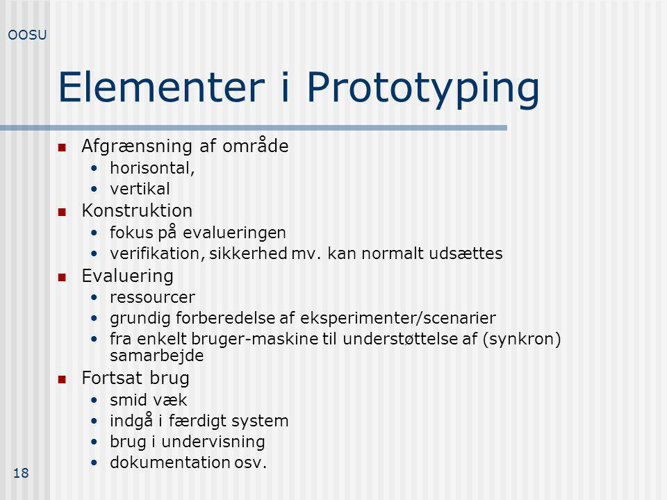 Elementer i Prototyping