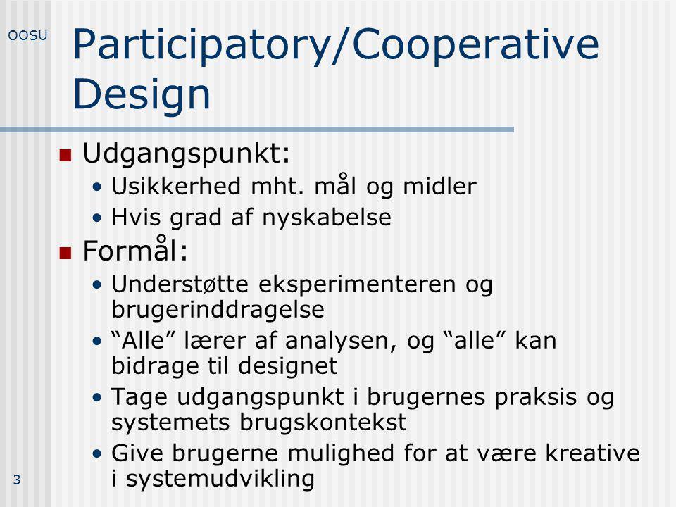 Participatory/Cooperative Design