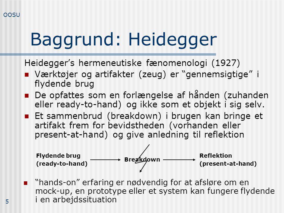 Baggrund: Heidegger Heidegger's hermeneutiske fænomenologi (1927)