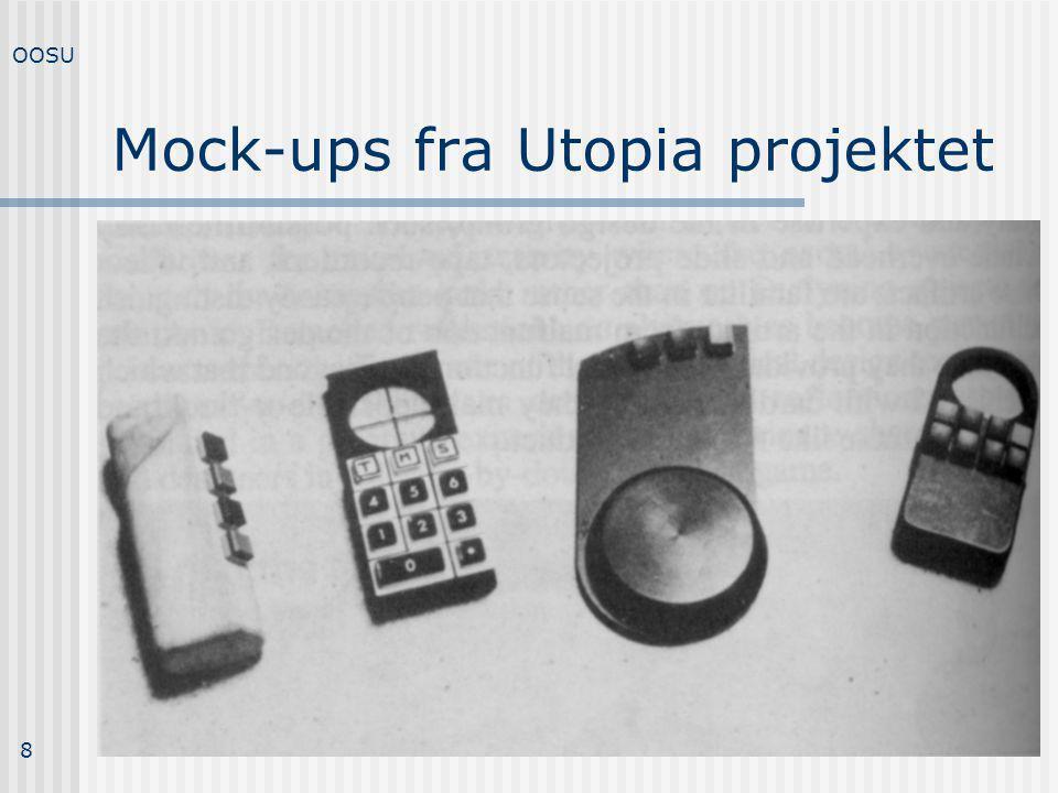 Mock-ups fra Utopia projektet