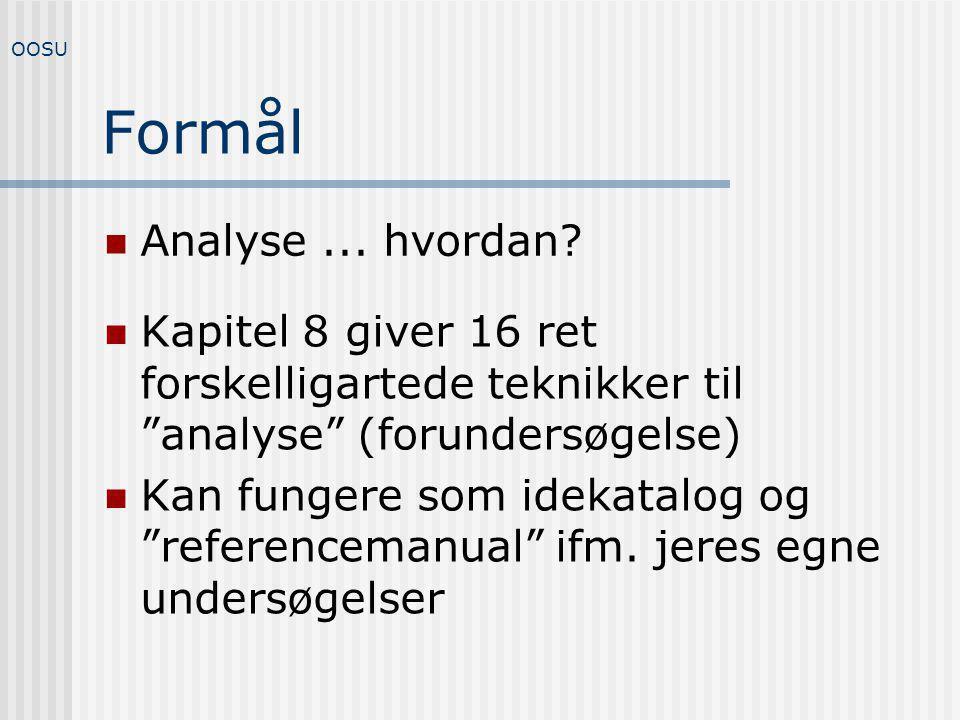 Formål Analyse ... hvordan