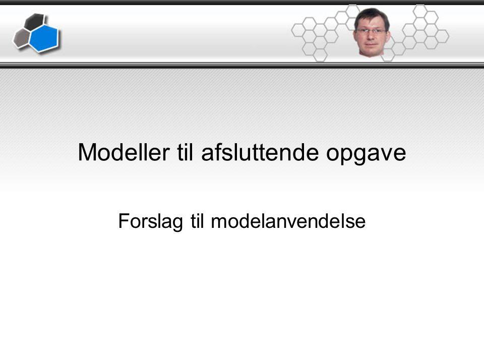 Modeller til afsluttende opgave