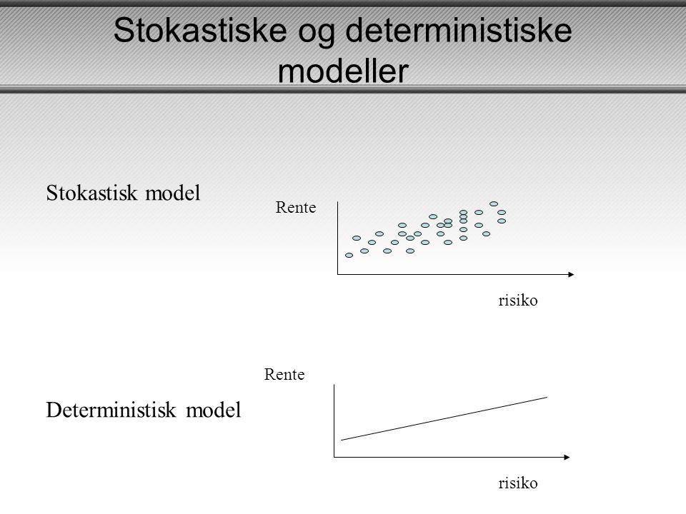 Stokastiske og deterministiske modeller