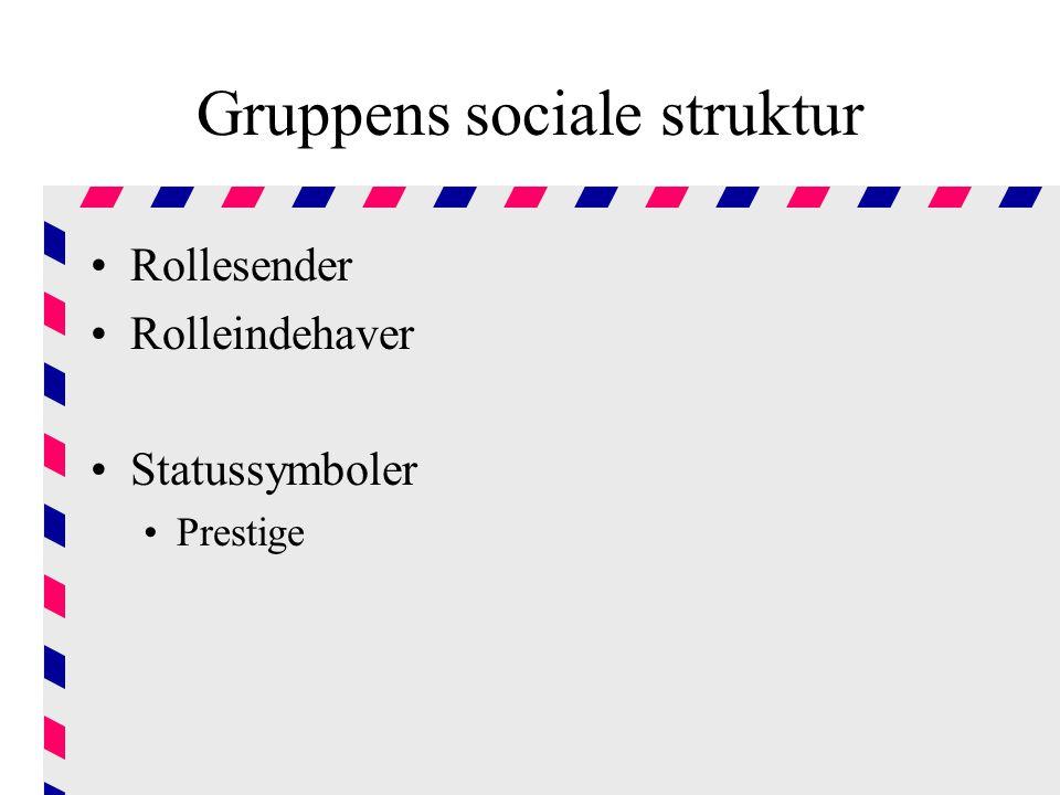 Gruppens sociale struktur