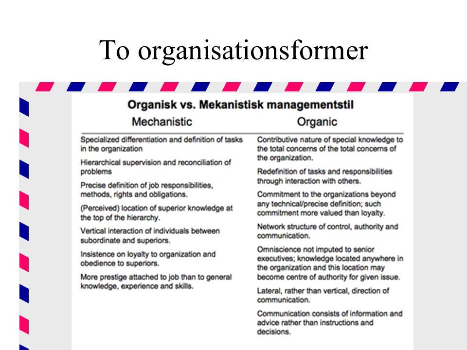 To organisationsformer