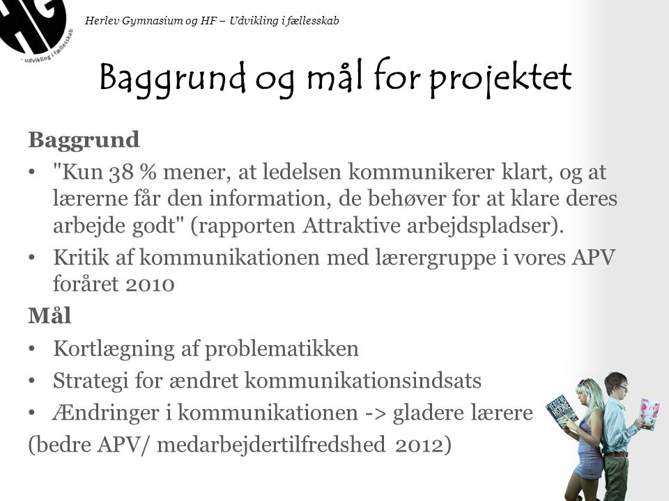 Baggrund og mål for projektet