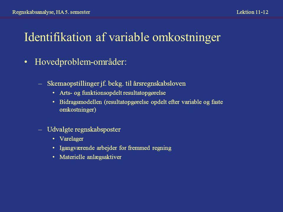 Identifikation af variable omkostninger