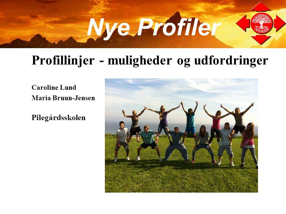 Nye Profiler Profillinjer - muligheder og udfordringer Pilegårdsskolen