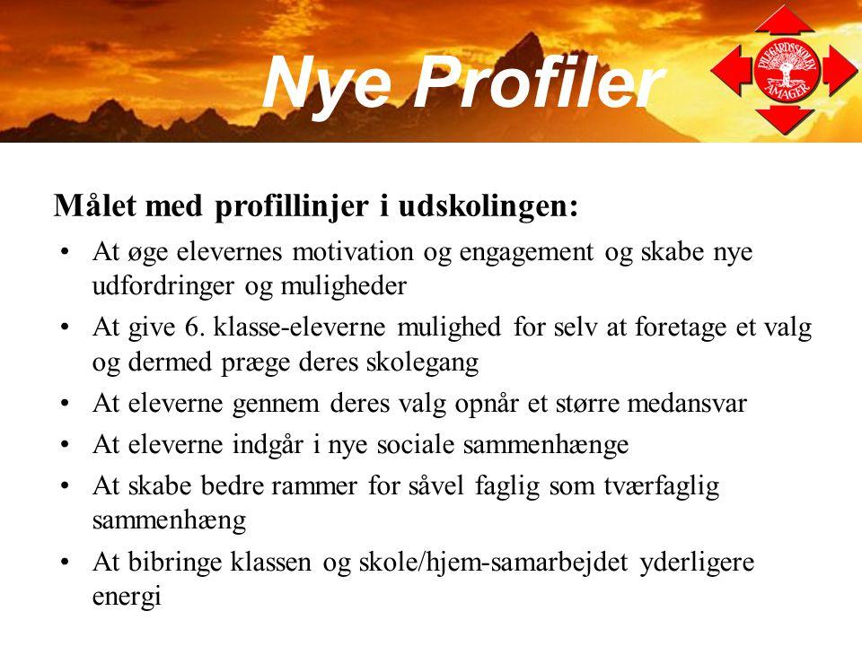 Nye Profiler Målet med profillinjer i udskolingen: