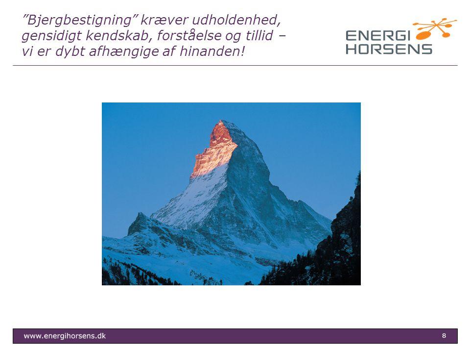 Bjergbestigning kræver udholdenhed, gensidigt kendskab, forståelse og tillid – vi er dybt afhængige af hinanden!