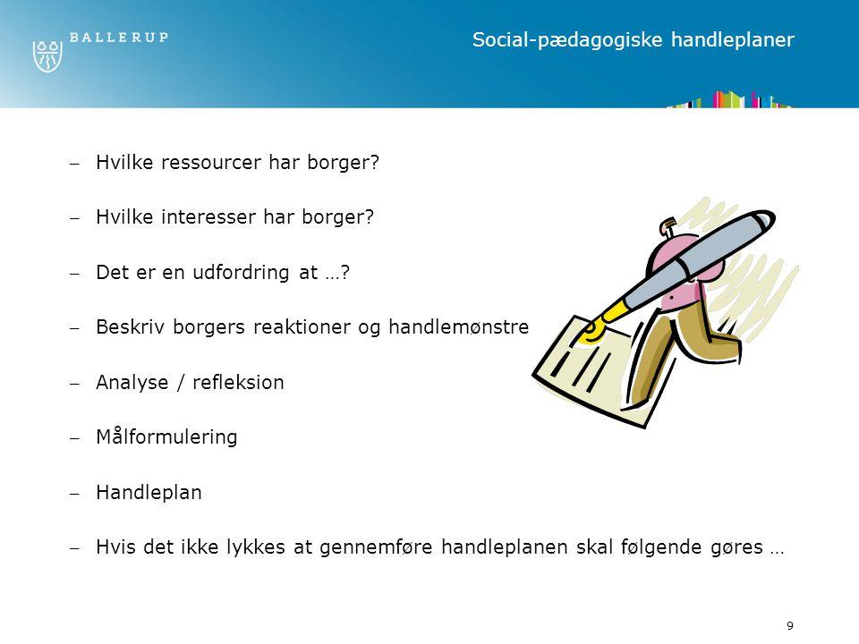 Social-pædagogiske handleplaner