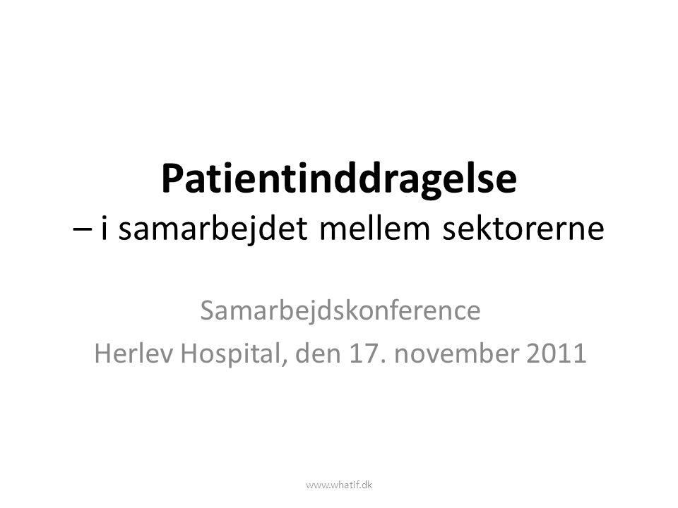 Patientinddragelse – i samarbejdet mellem sektorerne
