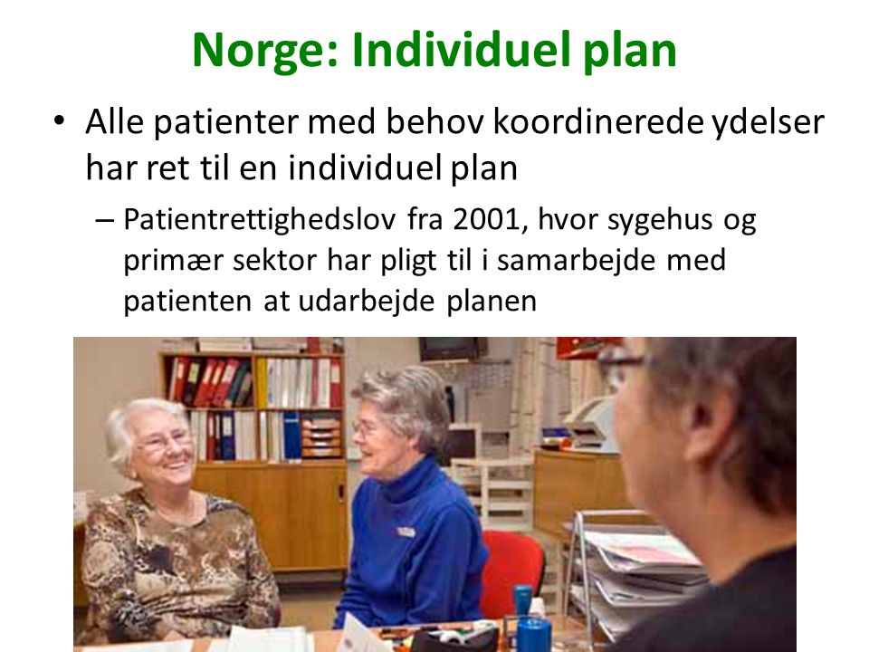 Norge: Individuel plan