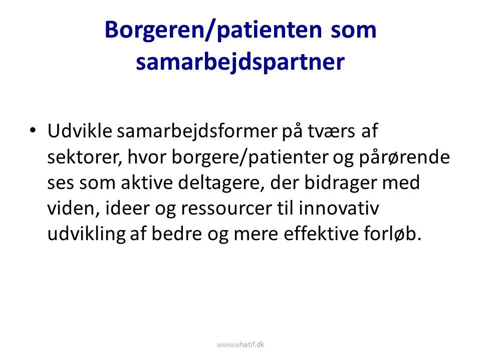 Borgeren/patienten som samarbejdspartner