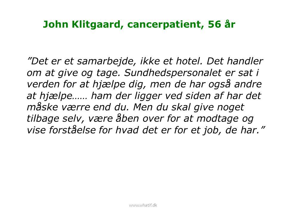 John Klitgaard, cancerpatient, 56 år