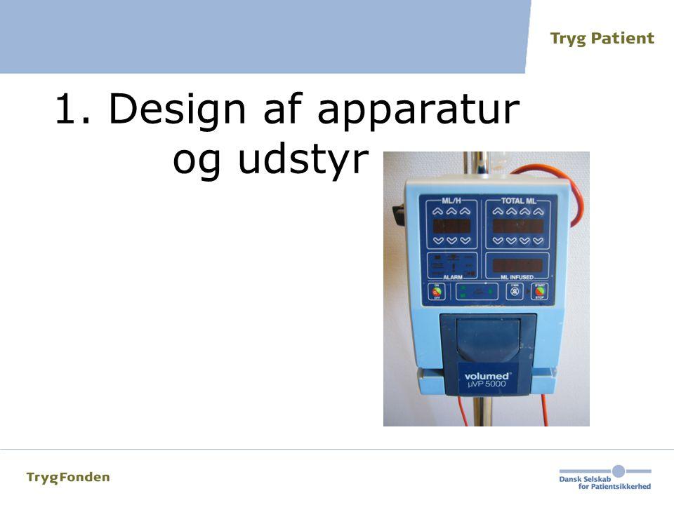 1. Design af apparatur og udstyr